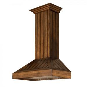 Zline KitchenZLINE Wooden Wall Mount Range Hood In Rustic Light Finish - Includes Motor (KPLL) [Size: 30 Inch]