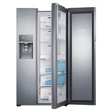 "Scratch & Dent 36"" Wide, 29 cu. ft. Capacity Side-by-Side Food Show Case Refrigerator with Metal Cooling (Stainless Steel)"