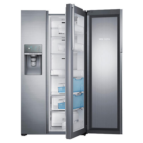 """Scratch & Dent 36"""" Wide, 29 cu. ft. Capacity Side-by-Side Food Show Case Refrigerator with Metal Cooling (Stainless Steel)"""