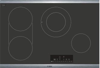 800 Series Electric Cooktop 30'' Black, surface mount without frame NET8068SUC