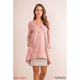 Your Everyday Heathered Tunic - XXL (3 pc. ppk.)
