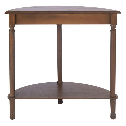 Safavieh - Tinsley Half Round Console Table - Brown