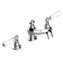 """View Product - Widespread lavatory set with drain for 1 1/4"""" + countertop"""