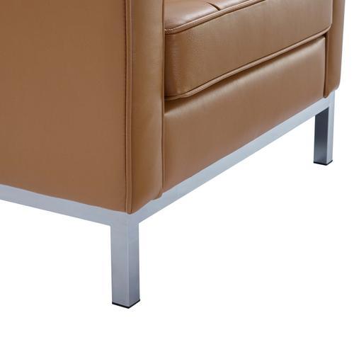 Modway - Loft Leather Armchair in Tan