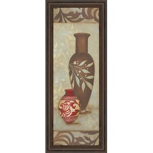 """Brown Vase"" By Stephanie Marrott Framed Print Wall Art"