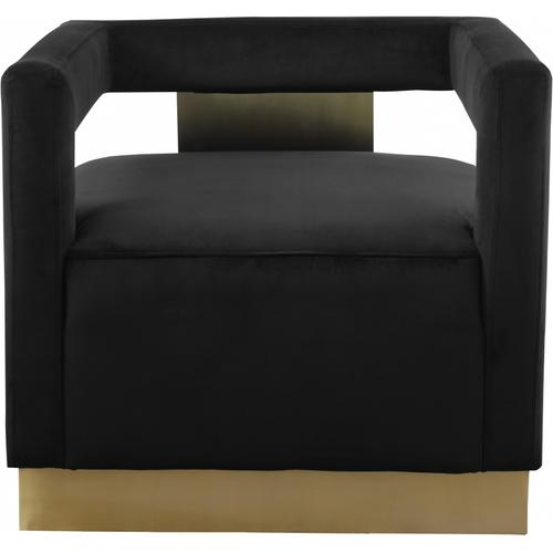 "Armani Velvet Accent Chair - 31.5"" W x 28"" D x 28"" H"