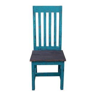 See Details - Turq Scraped Santa Rita Chair