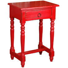 See Details - Desk - Distressed Red
