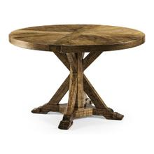 "48"" Medium Brown Driftwood Circular Dining Table"
