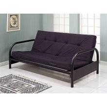 "6"" Black Full Futon Mattress FM46-8BLK 8"" Black Full Futon Mattress"