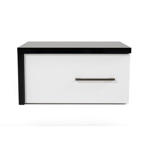 Modrest Moon Contemporary Black & White Nightstand