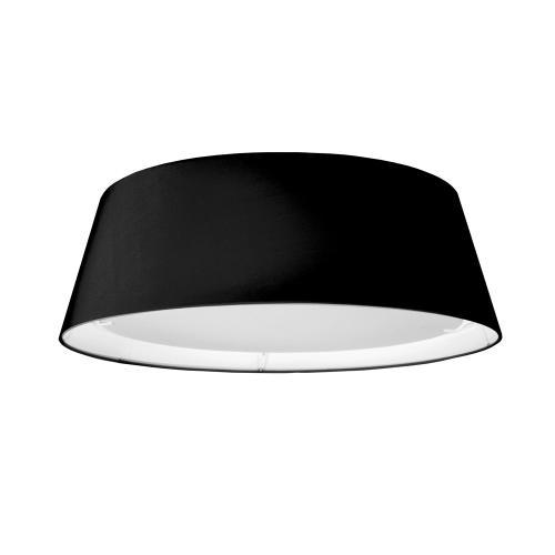 14w LED Flush Mount, Black