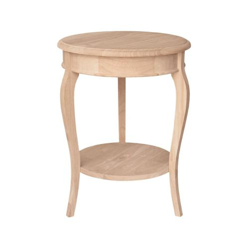 """Unfinished 16"""" Cambria Accent Table"""
