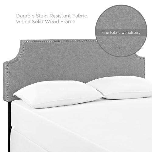 Modway - Laura King Upholstered Fabric Headboard in Gray