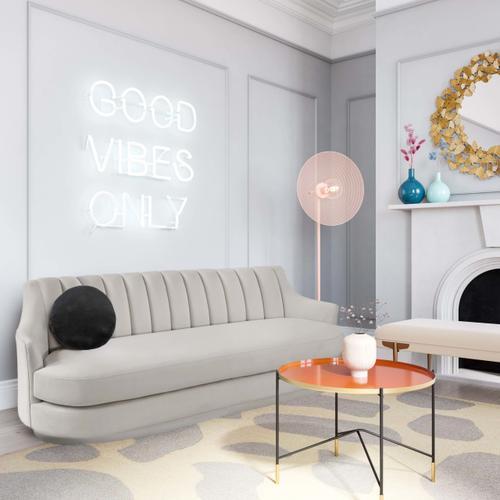 Tov Furniture - Peyton Light Grey Velvet Sofa