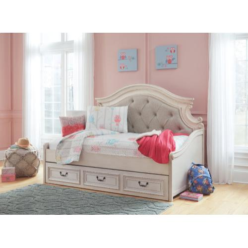 Realyn Twin Daybed With 1 Large Storage Drawer Chipped White