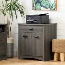 Gascony - Printer Cabinet, Gray Maple
