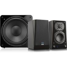 Prime Wireless 2.1 Powered Speaker System - Piano Gloss Black