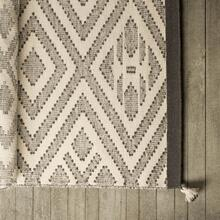 Damien II 120 x 96 Cream Wool and Cotton Handwoven Rug