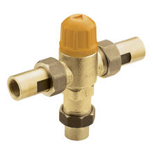"Commercial High Flow Thermostatic Mixing Valve 1/2"" CC Connections"
