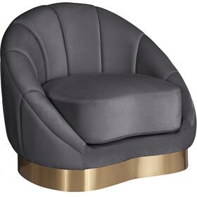 "Shelly Velvet Chair - 34.25"" W x 31"" D x 29.5"" H"