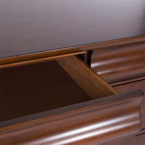 King Sleigh Bed, Dresser & Mirror, Night Stand