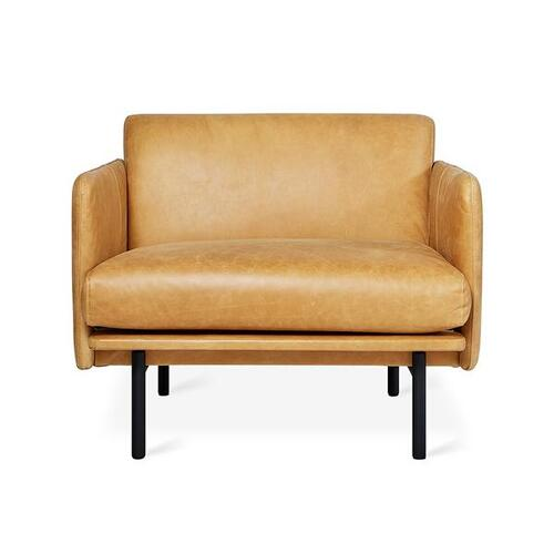 Foundry Chair New Canyon Whiskey Leather / Black