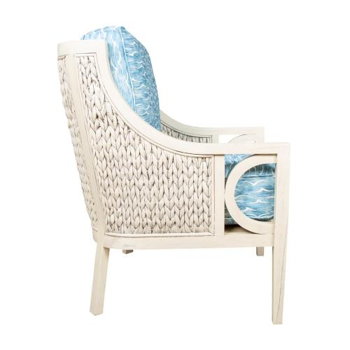 Occassional Chair, Available in Coastal White Finish Only.