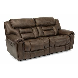 See Details - Buster Power Reclining Loveseat with Power Headrests