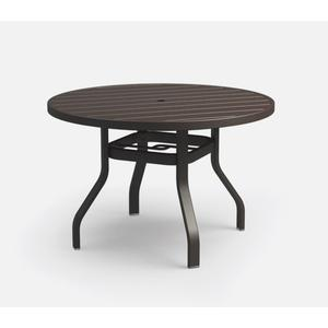 "42"" Round Dining Table (with Hole) Ht: 27.5"" 37XX Universal Aluminum Base (Model # Includes Both Top & Base)"