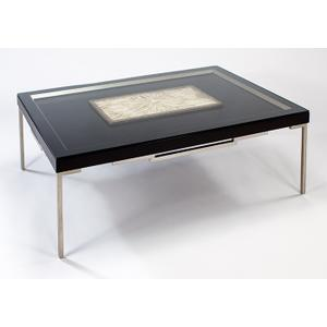 """Coffee Table with Glass 54x36x18"""""""