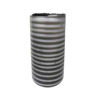 "Ceramic Vase 2 Tone 18.75"", Gray"