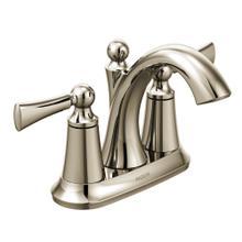 Wynford Polished nickel two-handle high arc bathroom faucet