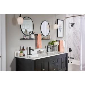 Genta matte black posi-temp® tub/shower