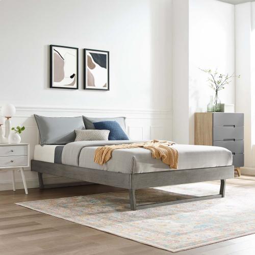 Modway - Billie Twin Wood Platform Bed Frame in Gray
