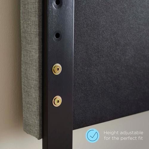 Modway - Reese Nailhead Full / Queen Upholstered Linen Fabric Headboard in Azure