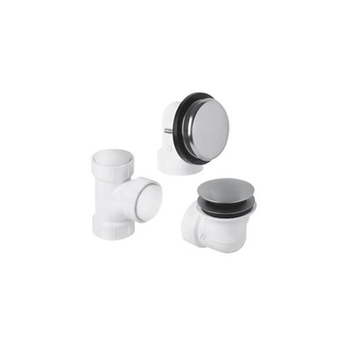 Mountain Plumbing - PVC Plumber's Half Kit with Deluxe Soft Toe Touch Trim (Designer Face Plate) - PVD Brushed Bronze