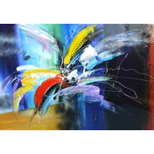 """Modrest 47"""" x 35"""" Abstract Oil Painting"""