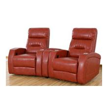 REC-567 & CON- 567 Canto Cranberry Leather Recliner