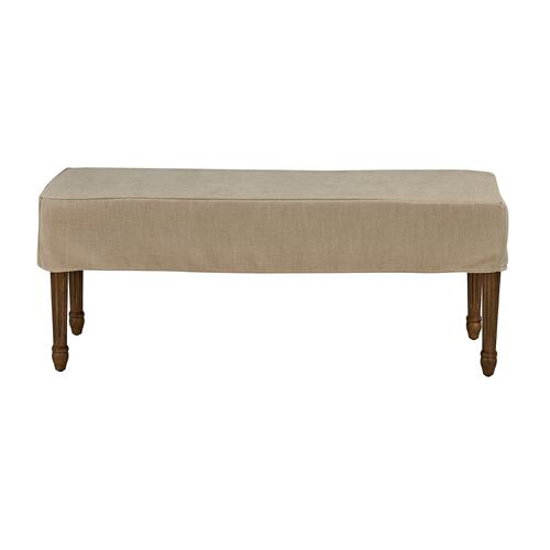 Forty West Designs - Bench Slip Cover-washable + Reversible Oatmeal