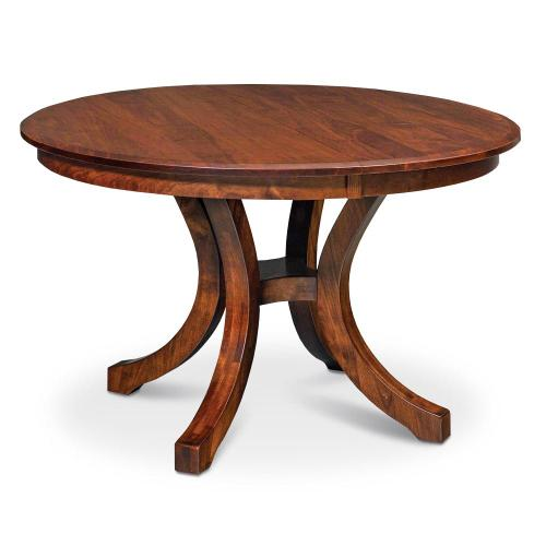 """Simply Amish - Loft II Round Table, 48"""" round (Max 3 Leaves) / Solid Top"""