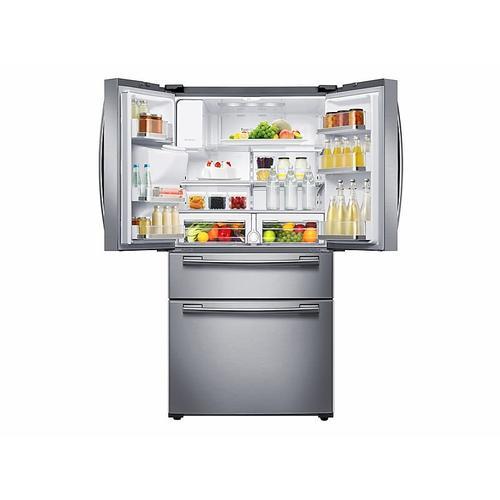 Samsung - 25 cu. ft. 4-Door French Door Refrigerator in Stainless Steel