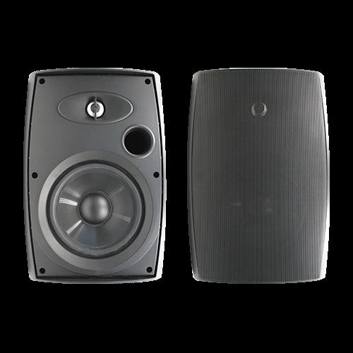 """6.5"""" Two-Way Outdoor Speakers (Black)"""