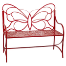 Red Butterfly Bench Product Image
