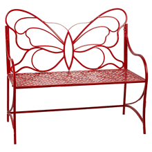 See Details - Red Butterfly Bench