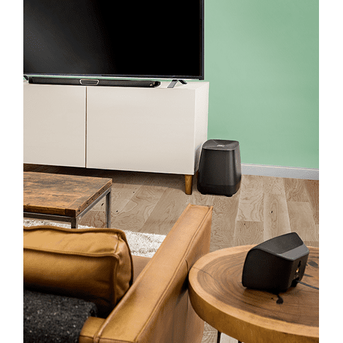 Gallery - MAXIMUM PERFORMANCE TRUE 5.1 SOUND BAR WITH WIRELESS REAR SURROUNDS in Black