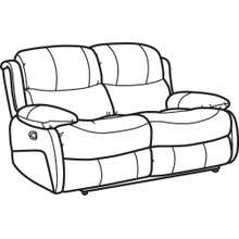 Amsterdam Leather Reclining Loveseat