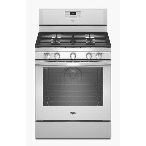 Whirlpool - White Whirlpool® 5.8 cu. ft. Capacity Gas Range with AquaLift® Self-Clean Technology