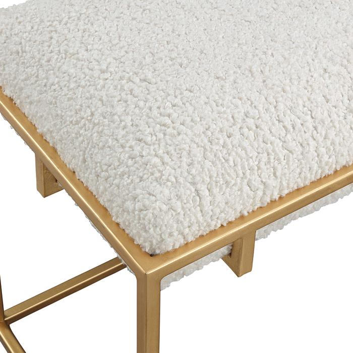 Uttermost - Paradox Small Bench, Gold