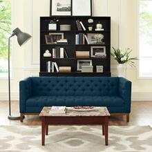 Panache Upholstered Fabric Sofa in Azure